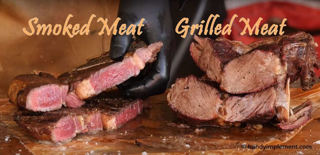 Smoked meat versus grilled meat