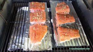 Smoking fish on pellet grill